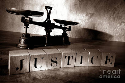 Justice Poster by Olivier Le Queinec
