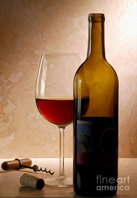Justin Wine Painting Poster by Jon Neidert