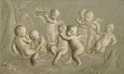 Juvenile Bacchanalia, 1783  Poster by Grigoriy Ivanovich Ugryumov