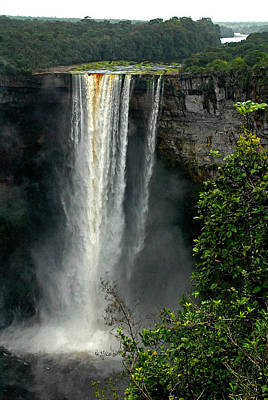 Kaieteur Falls Afar Poster by Stefan Carpenter