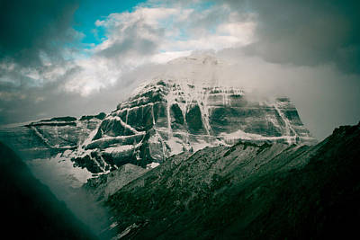Kailas Mountain Tibet Home Of The Lord Shiva Poster by Raimond Klavins