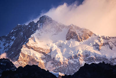 Kanchenjunga From  Goecha La  Poster by Helix Games Photography