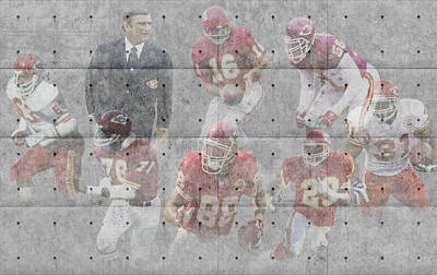 Kansas City Chiefs Legends Poster by Joe Hamilton