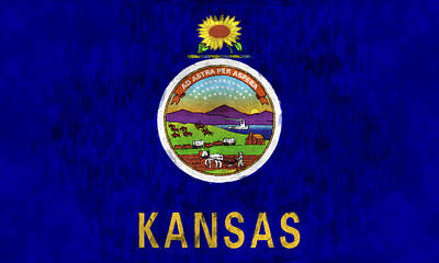 Kansas Flag Poster by World Art Prints And Designs