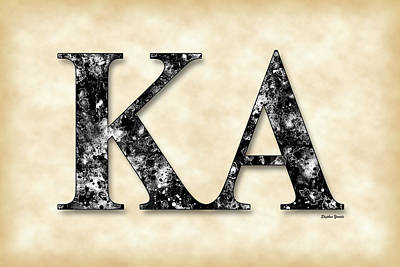 Kappa Alpha Society - Parchment Poster by Stephen Younts