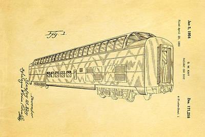 Kay Railway Car Patent Art 1954 Poster by Ian Monk