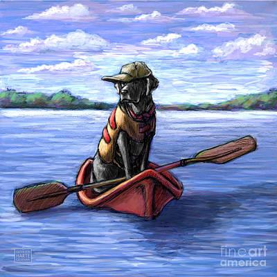 Kayak Ride Poster by Kathleen Harte Gilsenan