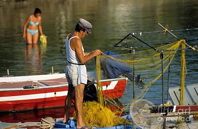 Fisherman In Kea Island Poster by George Atsametakis