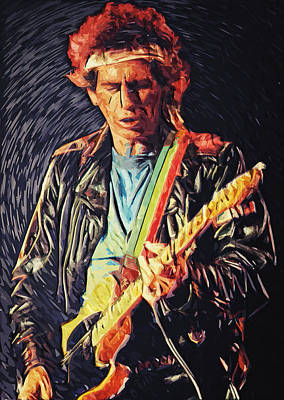 Keith Richards Poster by Taylan Apukovska