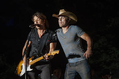 Keith Urban And Dustin Lynch Poster by Mike Burgquist