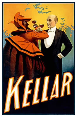 Kellar Toasts The Devil Poster by Terry Reynoldson