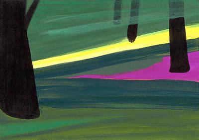 Kensington Gardens Series Light In The Park Oil On Canvas Poster by Izabella Godlewska de Aranda