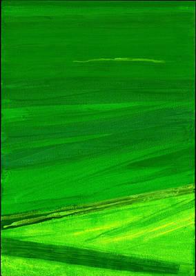 Kensington Gardens Series My World Of Green 4 Oil On Canvas Poster by Izabella Godlewska de Aranda
