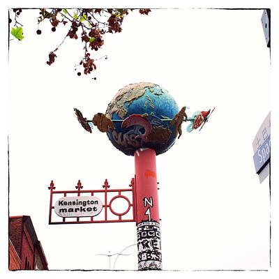 Kensington Market Globe Poster by Tanya Harrison