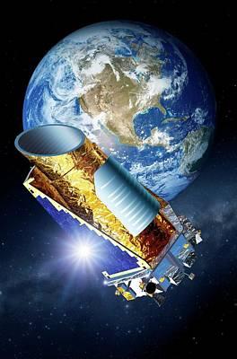 Kepler Space Telescope Poster by Detlev Van Ravenswaay