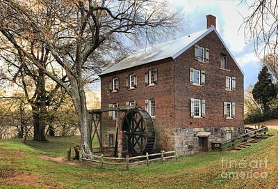 Kerr Grist Mill Poster by Adam Jewell