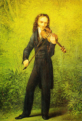 Kersting Der Geiger Nicolo Paganini Poster by MotionAge Designs