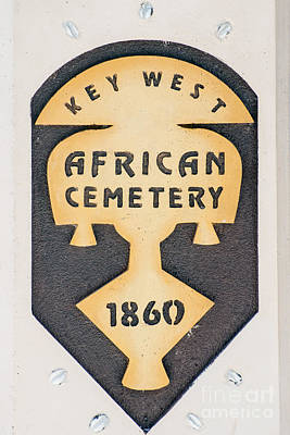 Key West African Cemetery 3 - Key West Poster by Ian Monk
