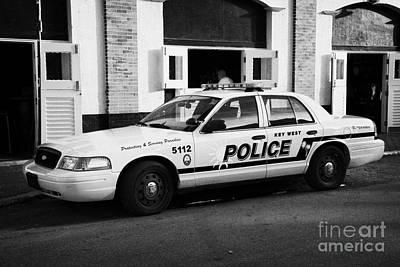 Key West Police Patrol Squad Car Key West Florida Usa Poster by Joe Fox