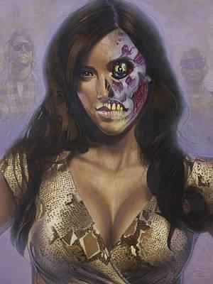 Kim Kardashian - They Live Poster by T M Rhyno