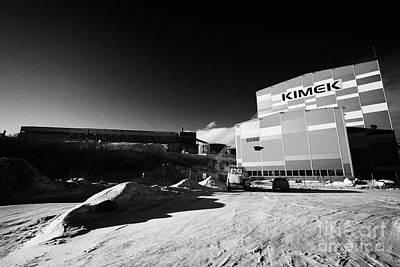 Kimex Shipyard Dry Dock And Iron Ore Processing Building Kirkenes Finnmark Norway Europe Poster by Joe Fox