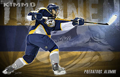 Kimmo Timonen Poster by Don Olea