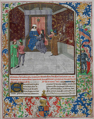 King Edward Iv Enthroned Poster by British Library