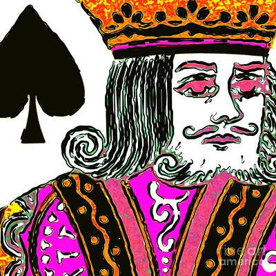 King Of Spade 20140812 Square Poster by Wingsdomain Art and Photography
