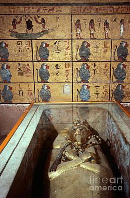 King Tutankhamuns Tomb Poster by John G. Ross