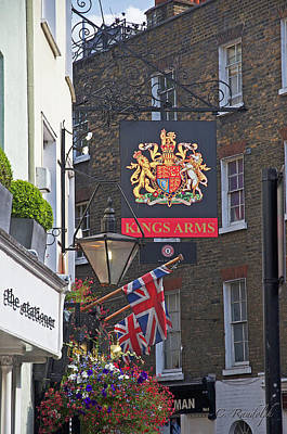 Kings Arms Pub Poster by Cheri Randolph