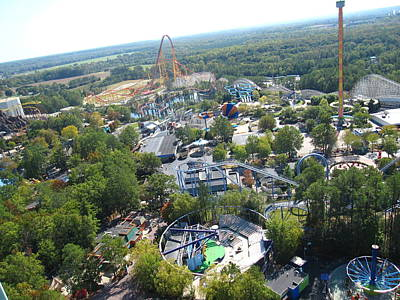 Kings Dominion - 121212 Poster by DC Photographer