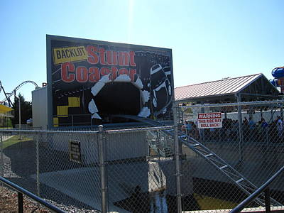 Kings Dominion - Back Lot Stunt Coaster - 12123 Poster by DC Photographer