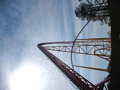 Kings Dominion - Intimidator 305 - 12121 Poster by DC Photographer