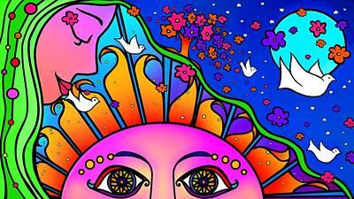 Kiss The Sun Poster by Mary Eichert