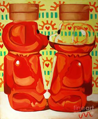 Kissing Bears Poster by Jayne Morgan