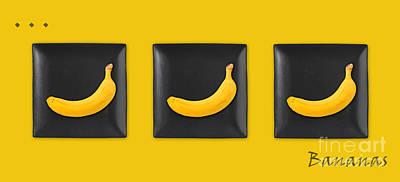 Kitchen Art - Bananas - V02 Poster by Aimelle