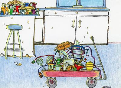 Kitchen Caddy Poster by Mag Pringle Gire