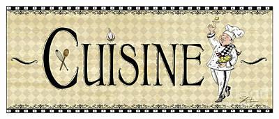 Kitchen Sign-cuisine Poster by Shari Warren