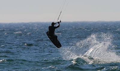 Kite Surfing Wakeboard Poster by Dan Sproul