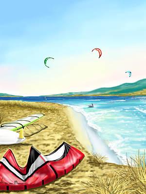 Kitesurf Poster by Veronica Minozzi