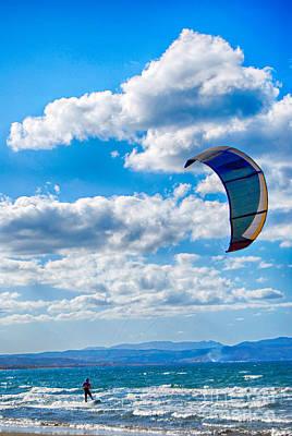 Kitesurfer Poster by Antony McAulay