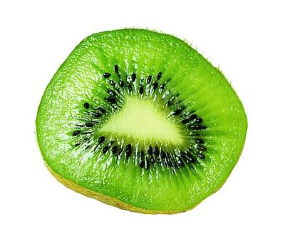 Kiwi On White Poster by Diana Angstadt