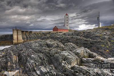 Kjolnes Lighthouse 1 Poster by Heiko Koehrer-Wagner