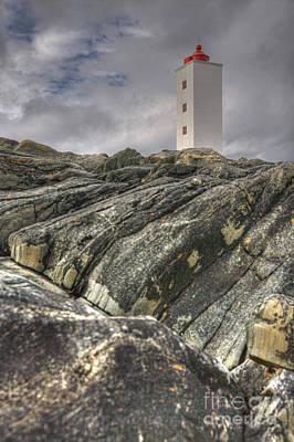 Kjolnes Lighthouse 3 Poster by Heiko Koehrer-Wagner
