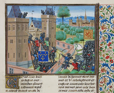 Knights Capturing Wark Castle Poster by British Library