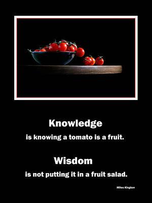 Wisdom Poster by David and Carol Kelly