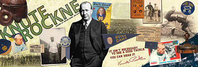 Knute Rockne Panoramic Poster by Retro Images Archive