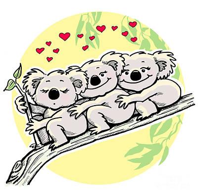 Koala Love Poster by Ghita Andersen