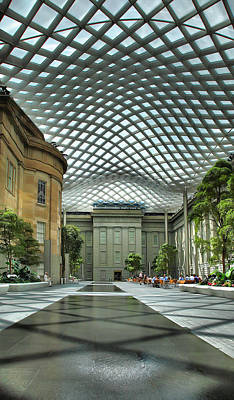 Kogod Courtyard II Poster by Steven Ainsworth