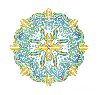 Koi Mandala Poster by Stephanie Troxell